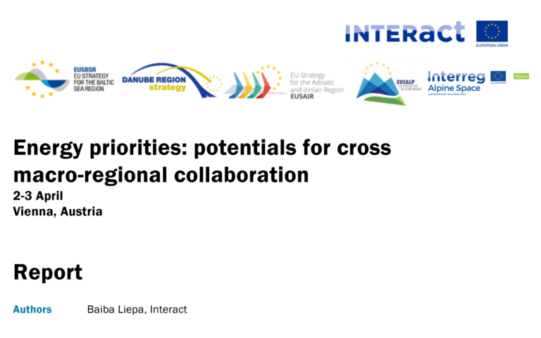 Energy priorities: potentials for cross macro-regional collaboration (Interact report)
