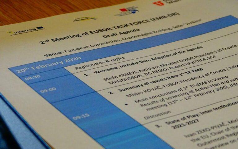 Embedding the EUSDR into EU Programmes – 2nd meeting of the EUSDR Task Forceand National Coordinators