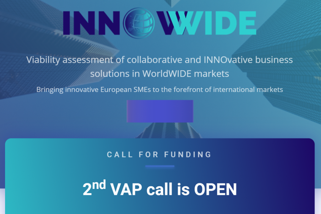 2nd INNOWWIDE Call for Viability Assessment Project (VAP) supporting the internationalization of European SMEs and Start-ups