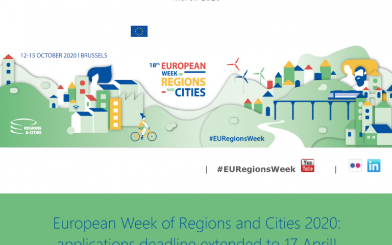 European Week of Regions and Cities 2020: applications deadline extended to 17 April!