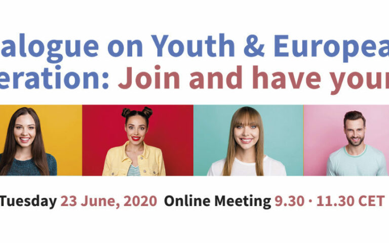 Youth Dialogue in European Cooperation (June, 23rd, from 9:30 to 11: 30 online )