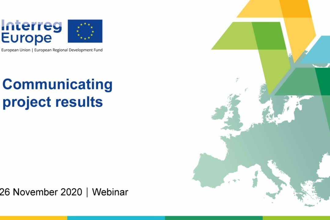 Webinar on communicating project results